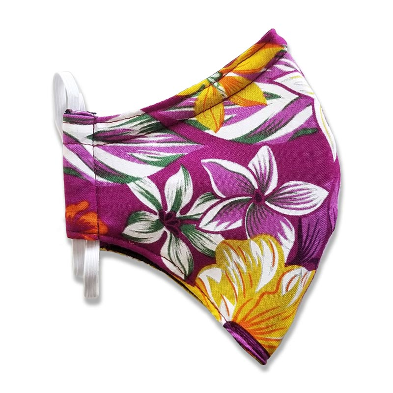 Hawaiian Floral Face Mask for Kids and Adults
