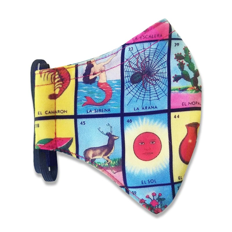 Loteria Face Mask for Adults and Kids