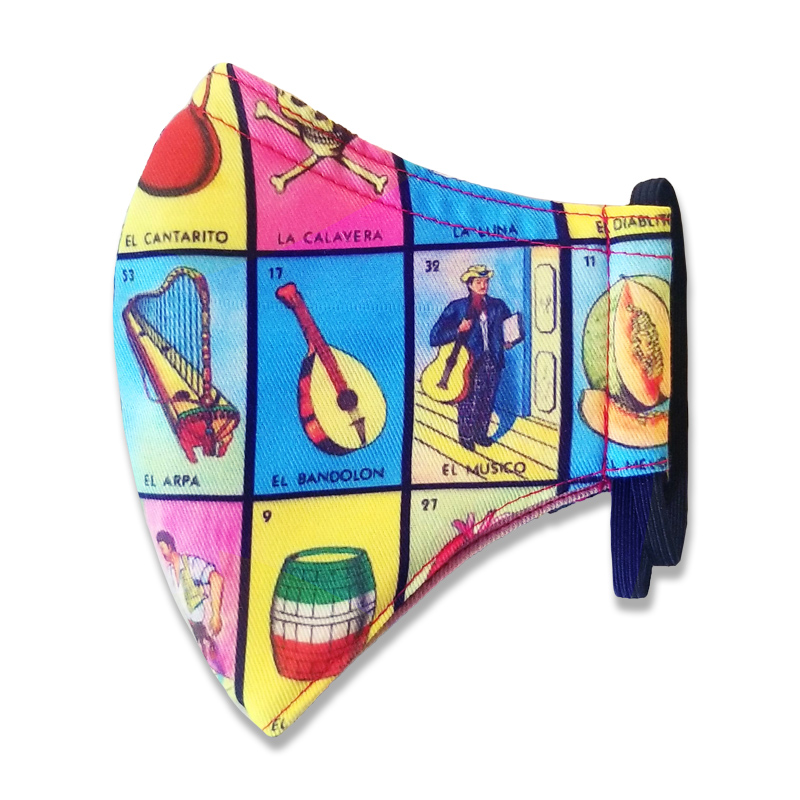 Loteria Face Mask Side 2 For Adults and Kids